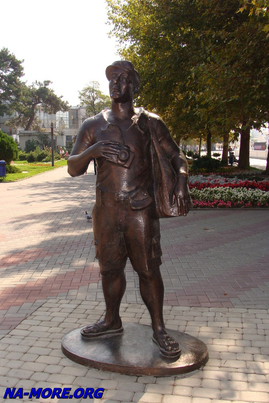 Памятник туристу в Геленджике